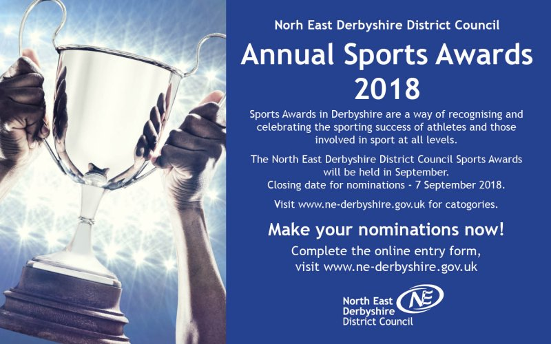 North East Derbyshire Sports Awards - nominations now open
