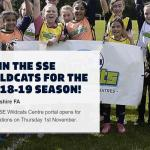 Football – Funding and Support - SSE Wildcats - Closes 4th December!