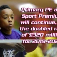 Primary PE and Sport Premium to continue for 2019-2020