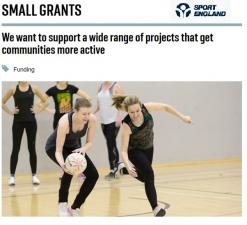 Sport England Small Grants – New Video Tutorial