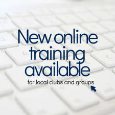 New online training available for clubs and groups