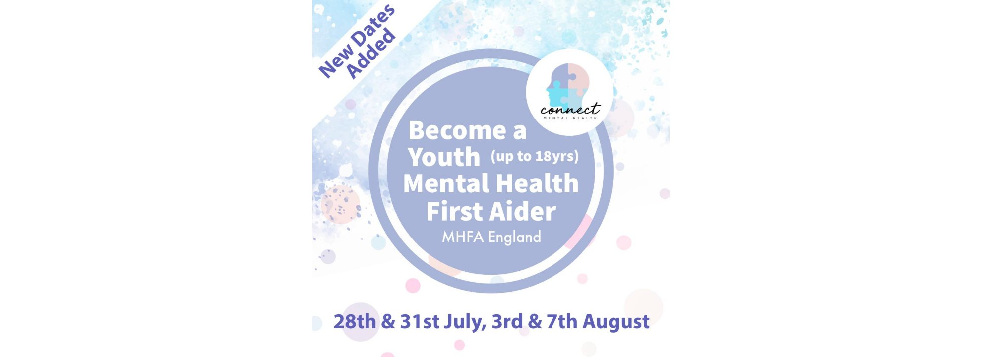 Youth Mental Health First Aid (2 days) Banner